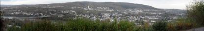 Blick vom Rittersturz auf die rechtsrheinischen Stadtteile